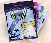 bags trousers - 35 CM CM Clear Plastic and Non woven Zip lock Bag for clothes T shirt Trousers Packaging bag