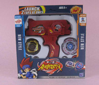 Wholesale Red Super Top Clash Metal Beyblade Spinning Tops Toys With Two Beyblade One Handle