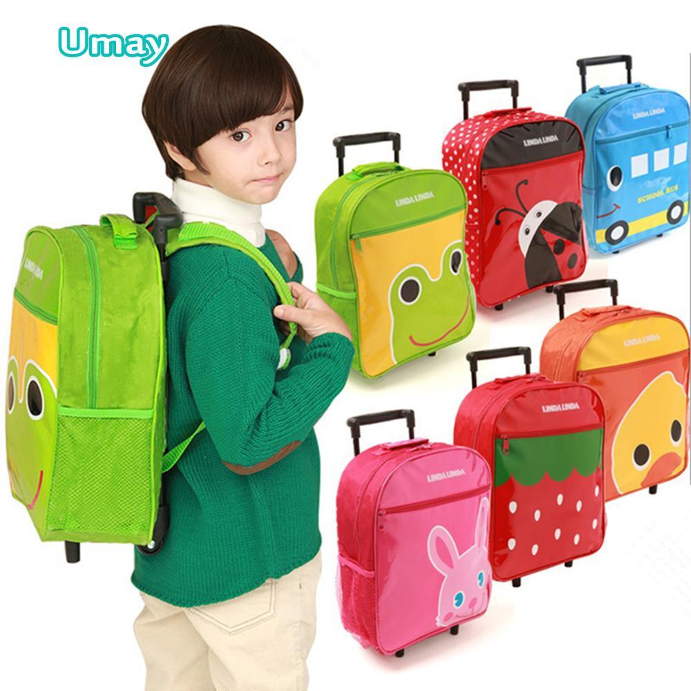 2015 New Arrival Cartoon Kids Rolling Trolley Luggage School Bag ...