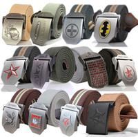 web belt - 2015 New Men s Canvas Belt Automatic Buckle Belt Waistband Canvas Web Leather Belt Styles Colors PD0000