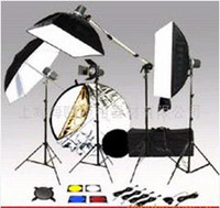 Wholesale 600W Full Deluxe kg Set Studio Strobe Flash Light Kit Wireless Bag Softbox