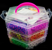 bead charm bracelet kits - Pagoda Kits Clasps Beads Charms Hook layer Box DIY Loom Bands Refills Kid Make rubber Bands Elastics Gum Bracelets
