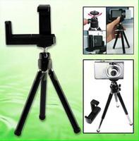 Soportes de cámaras digitales Baratos-Cámara del soporte del trípode para el teléfono de Moblie cámara del teléfono móvil 360 de rotación de color negro 50pcs