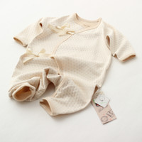 Wholesale Baby Boy Clothes Rompers Organic Cotton New Born Infant Wears Unisex Girls Clothing Brand Bebe Up Gots Certificate Nature