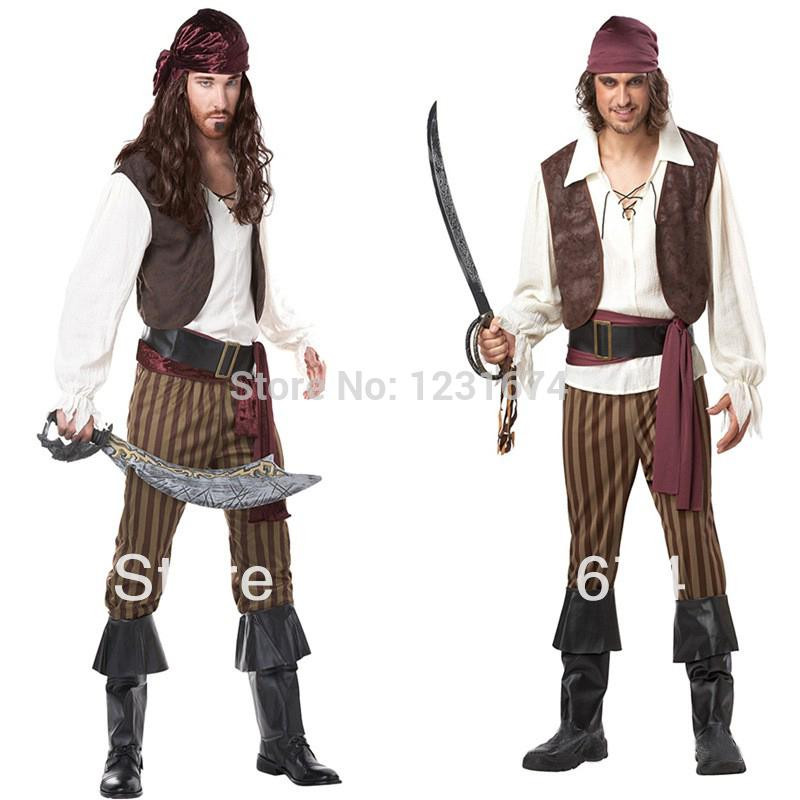 Rogue Pirate Halloween Costume Rogue Pirate Costume Men's
