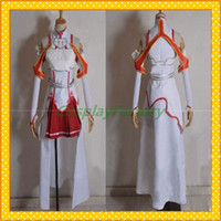 art making games - Fast Custom Made SAO Sword Art Online Anime Cosplay Asuna Yuuki Lolita Party Dress Costume Clothing