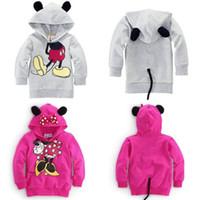 Wholesale NEW Baby Girls Boys Kids D Cartoon Mickey Minnie Tops T shirt Hoodies Coat Y