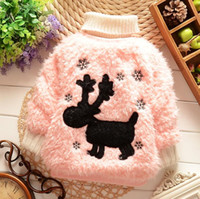 baby brands list - Listed in stock Retail Kid clothing Christmas costumes Deer Sweater girl new baby warm clothes cartoon coat brand