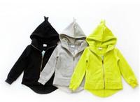 Wholesale Children Kids Clothing Hoodies2015New Dinosaur Hoodies Jackets Boy Giris Jacket Outerwear Baby Sweaters Spring Autumn Clothes