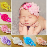 Wholesale 36 Kids Girl Baby Toddler Infant Flower Headband Hair Bow Band Accessories Headwear Different Colors