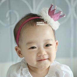 Wholesale Gold Baby Headband Crown Headband Baby Headband Gold Princess Crown Infant Crown Headband Glitter Crown