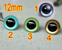 Wholesale Free ship mm DIY Doll Accessorie Colorful crystal eyes Acrylic Safety Eyes Bears Dolls