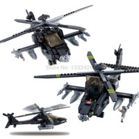 apache attack helicopters - Simple box Sluban M38 B0511 Apache Attack Helicopter building blocks Military Apachi fighter DIY Bricks Toy Minifigure for kid