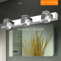 bathroom vanity light fixture - LED Mirror light plugs Ac stainless steel bathroom mirror lamp wall lights fixtures ceiling lamps vanity lighting