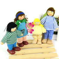 Cheap New 4Pcs Happy Family Members Jointed Doll Educational Story-telling Toy For Children