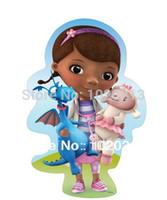 doc mcstuffin - 3pcs Cartoon Movie Doc McStuffins Plush Toys Doc McStuffin Plush Doll cm Stuffy Dragon cm Lambie Push cm