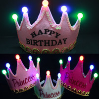 Wholesale Baby kids birthday party supplies LED light baby hats amp caps fashion and special baby girl boy hair accessories