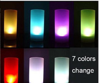 Wholesale Hot Sale Plastic LED Candle Light Magic Color Change Sensor Flicker Rose Flower