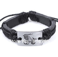 astrological signs - October New product Zodiac Signs Star Synthetic Leather Cuff Bracelets Wrap Adjustable Astrological Sign Bangles