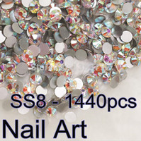 art gross - Gross ss8 Crystal AB Nail Art Non hotfix Rhinestones Flatback for phone cases Clear AB
