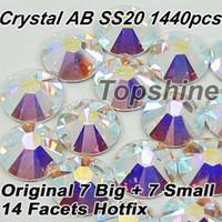 austria professional - Similar SWA Top Quality Same As Austria Flatback Crystal AB ss20 Hotfix Rhinestones For professional Buyers