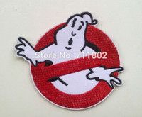 Wholesale Sales promotion Ghostbusters iron on patch fabric clothes patch stickers Embroidered Badge dropship lo