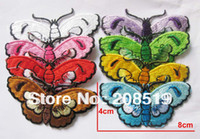 Wholesale AE045 fashion patch iron on butterfly mixed cm cm high quality patches for clothes