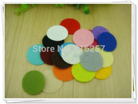 Wholesale many color cm Round Felt accessory patch circle felt pads DIY flower material