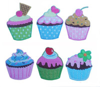 Wholesale Ice Cream Cake Series Types About cm Appliques Iron On Patches Made of Clothes