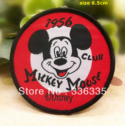 Wholesale sew on Mickey Embroidered patch cm sew on Motif Applique garment embroidery cartoon patch DIY accessory