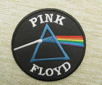 Wholesale PINK FLOYD Embroidered LOGO Iron On Patch Emo Goth Punk Rockabilly Customized patch available