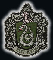 Wholesale HARRY POTTER quot Salazar Slytherin quot Crest Emblem Embroidered Iron On Patch rock retro applique dropship Free