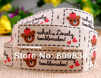 bear quilt fabric - mm Good quality cotton ribbon with cute bear printed ribbon sewing lable cotton fabric printing bear ribbon ss