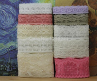 Wholesale New arrival meters lace fabric ribbon border lace trim sewing material accessories