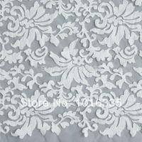 beyonce wedding - White cotton embroidery accessories Beyonce dress fashion organza lace fabric White lace fabric for wedding dress