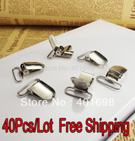 Wholesale 80Pcs Suspenders clips mitten clips metal clips K2