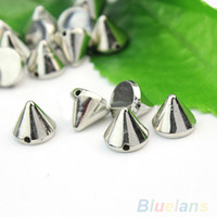 Wholesale mm Silver Metal Stud Rivet Spikes Craft Case Shoes Bag Leathercraft Accessories DIY Accessories DT