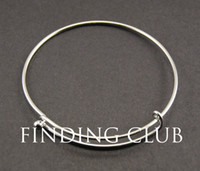 Cheap Hot!!!!! 20pcs Rhodium plated Copper Expandable Adjustable Fashion Jewelry Wiring Bangle Bracelet For Charms Alex And Ani
