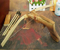 bow and arrow gun - Hot Sale Gun Set Wooden Archery Crossbow Kids Gift Bow and Arrow