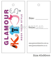 tags for clothing - full color printed No MOQ for all kinds of hangtags hang tags clothing tags and labels garment tags
