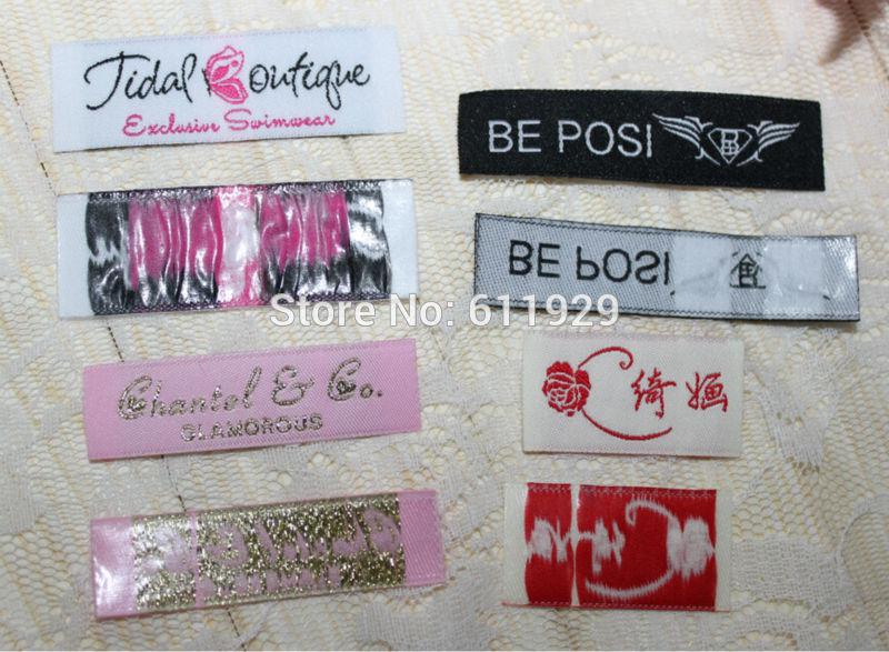 2017 wholesale custom clothing iron on woven labels not for T shirt tags wholesale