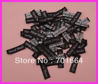 bulk glitter - mm mm Black ribbon label with embroidered silver glitter quot handmade quot Bargain for Bulk