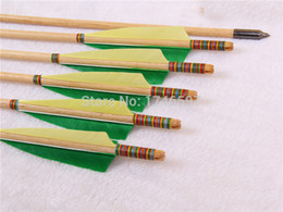 Wholesale Archery hunting arrow White Pine Wood composite bow Traditional Bow Common cm pk