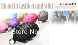 Wholesale New Keychain Hand Grenade Shaped Style Zippered Case Coin Pouch Bag Purse Wallet Key Wallet Holder