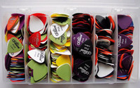 Wholesale Free Ship Pieces Mixed High Quality Plastic Guitar Pick Combo Set Guitar Picks