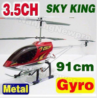 Electric large rc helicopter - 91cm Big Large Size CH Radio Remote Electric Control RC Helicopter Metal Gyro with LED light Gyroscope Sky King HCW SkyKing Toy