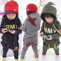 army set for kids - retail boy autumn kids clothes boys clothing sets army casual sweatshirt hoodies and pants suits for boys kids children