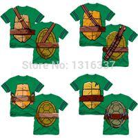 Wholesale hot sale new arrival fashion Cartoon Teenage Mutant Ninja Turtles Baby Kids Boys Tops T shirt Costume