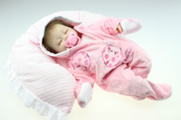 Cheap simulation 18inches lifelike reborn soft silicone vinyl real touch doll newborn baby gift hot on sale