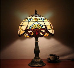 Wholesale 2015 high quality Baroque Tiffany Style Colorful Glass Table Lamp YSL TD0075 Hot Sale light
